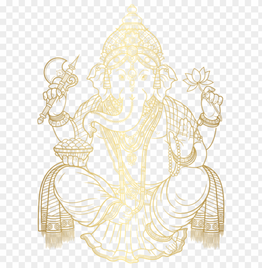 Download ganesha gold clipart png photo  @toppng.com