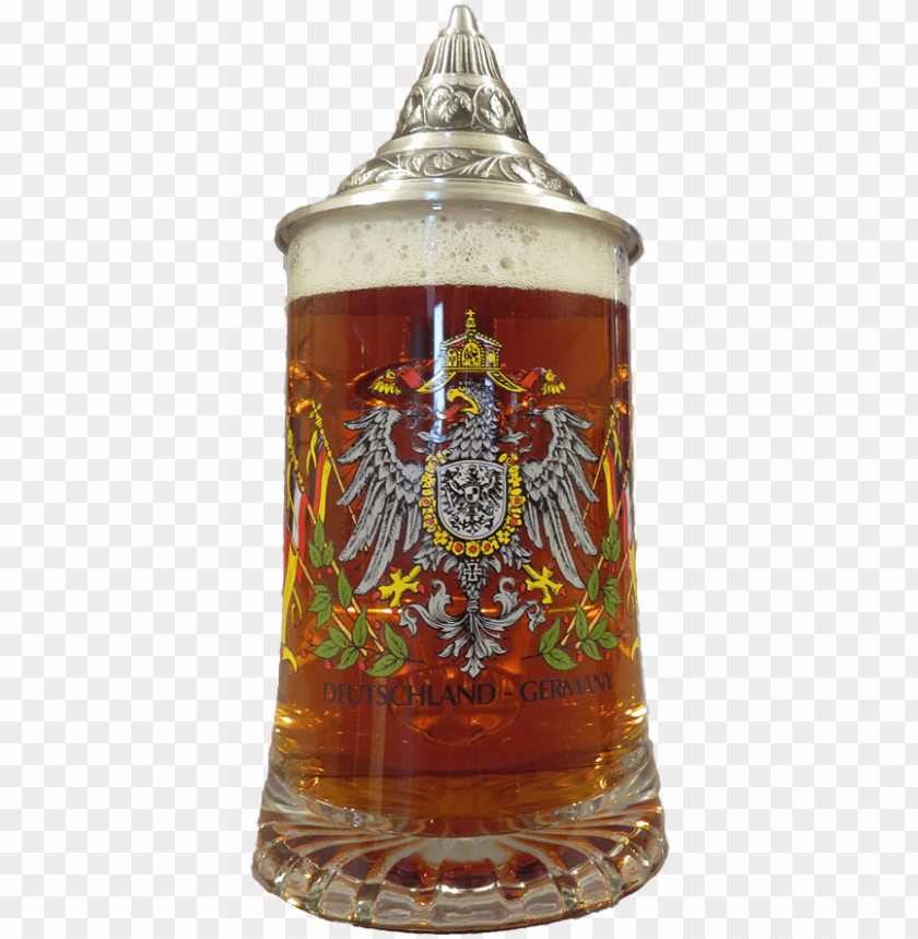 free PNG german glass beer glass with eagle .4l PNG image with transparent background PNG images transparent