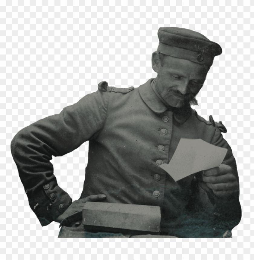 free PNG Download german soldier reading a letter png images background PNG images transparent