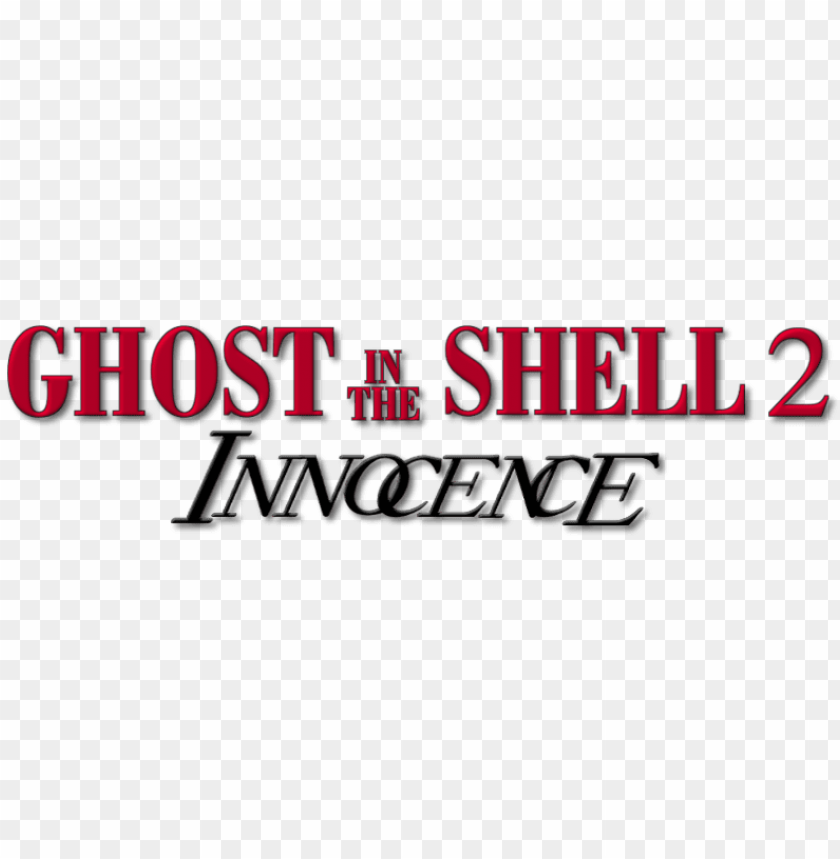 Ghost In The Shell 2 Innocence Logo Png Image With Transparent Background Toppng