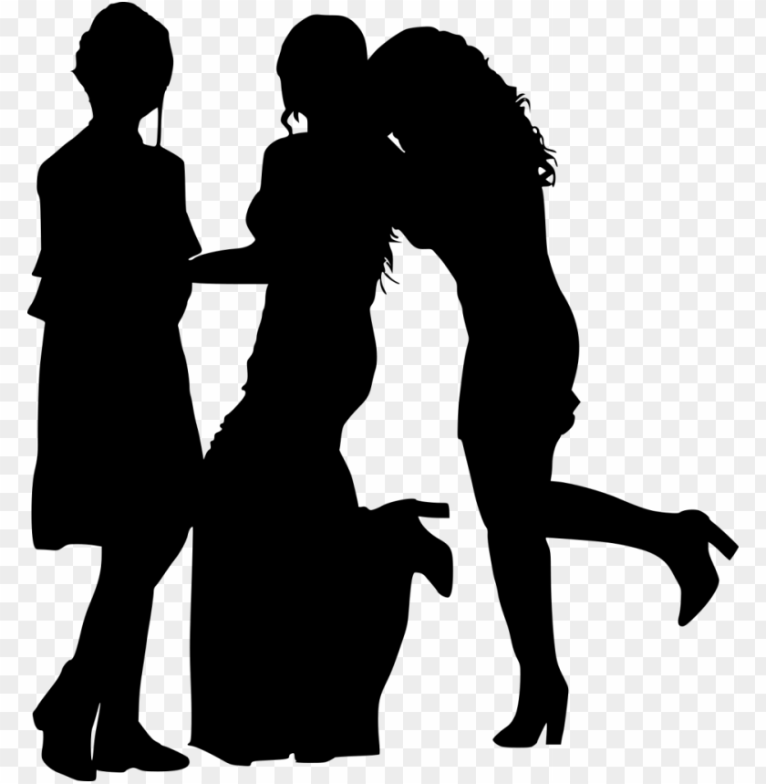 free PNG girl group hoto posing silhouette png - Free PNG Images PNG images transparent