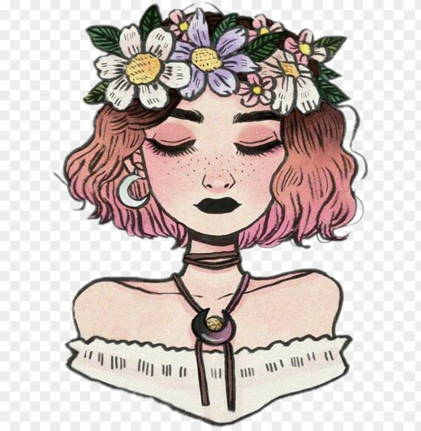girl tumblr vintage flowers crown girltumblr