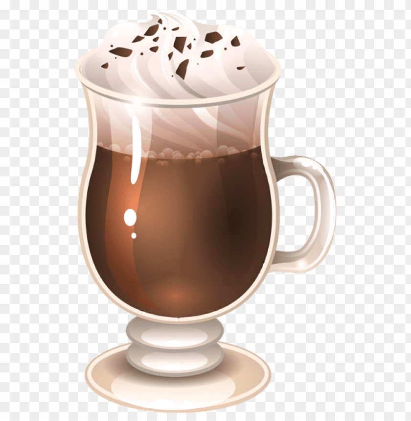 Download Glass Of Coffee Latte Clipart Png Photo Toppng