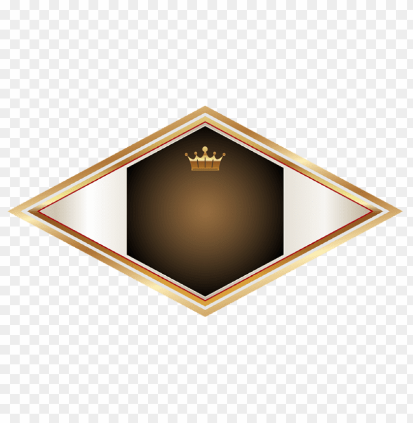 free PNG Download gold and brown label with gold crown clipart png photo   PNG images transparent