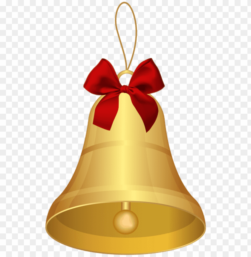 free PNG gold bell with red bow PNG Images PNG images transparent