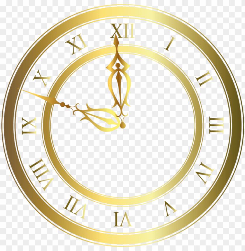 free PNG gold clock transparent background PNG image with transparent background PNG images transparent