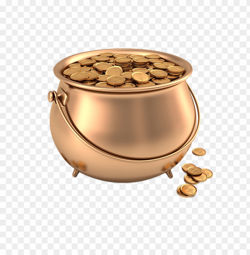 free PNG Download gold coins in pot clipart png photo   PNG images transparent