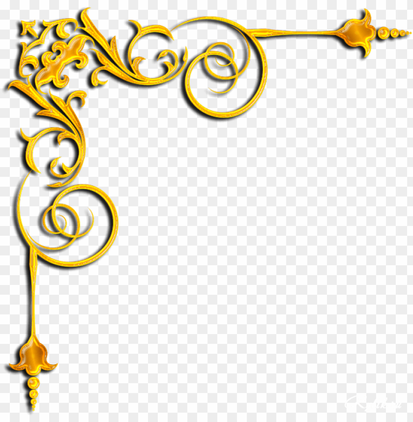 gold corner png png image with transparent background toppng gold corner png png image with