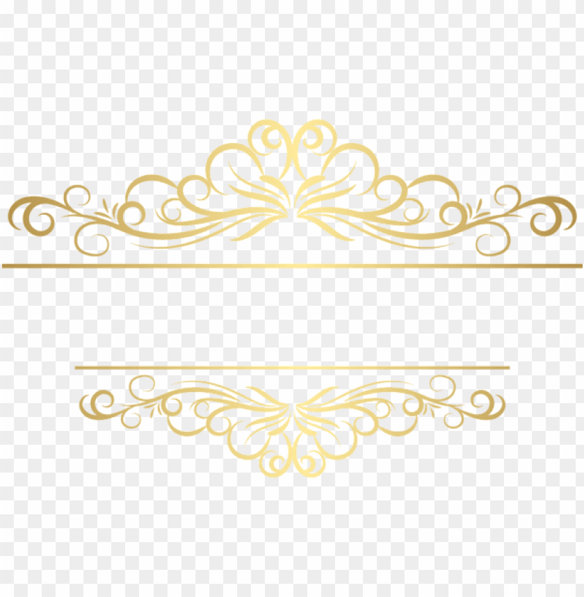 Download Gold Deco Ornament Png Clipart Png Photo Toppng