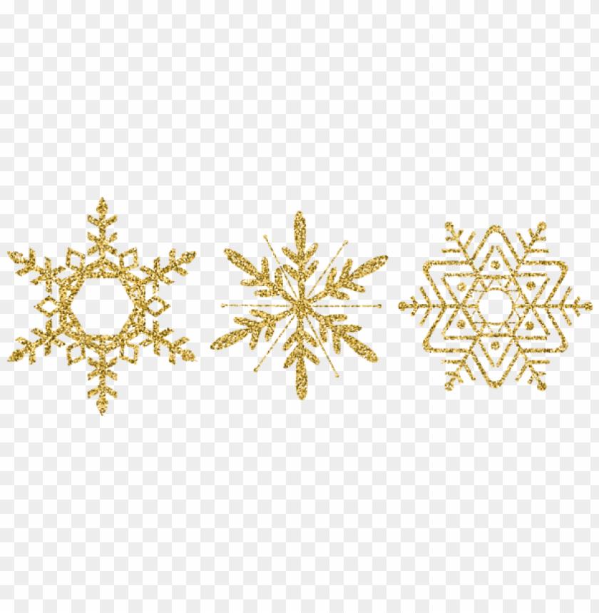 free PNG gold decorative snowflake set PNG Images PNG images transparent