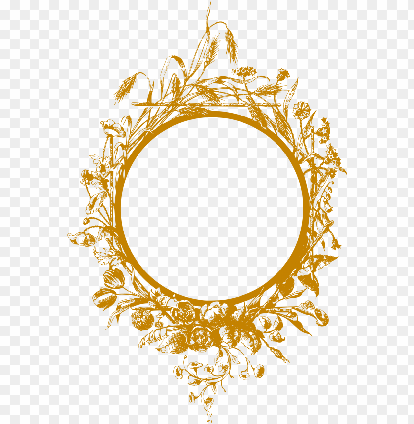 gold floral border png png image with transparent background toppng gold floral border png png image with