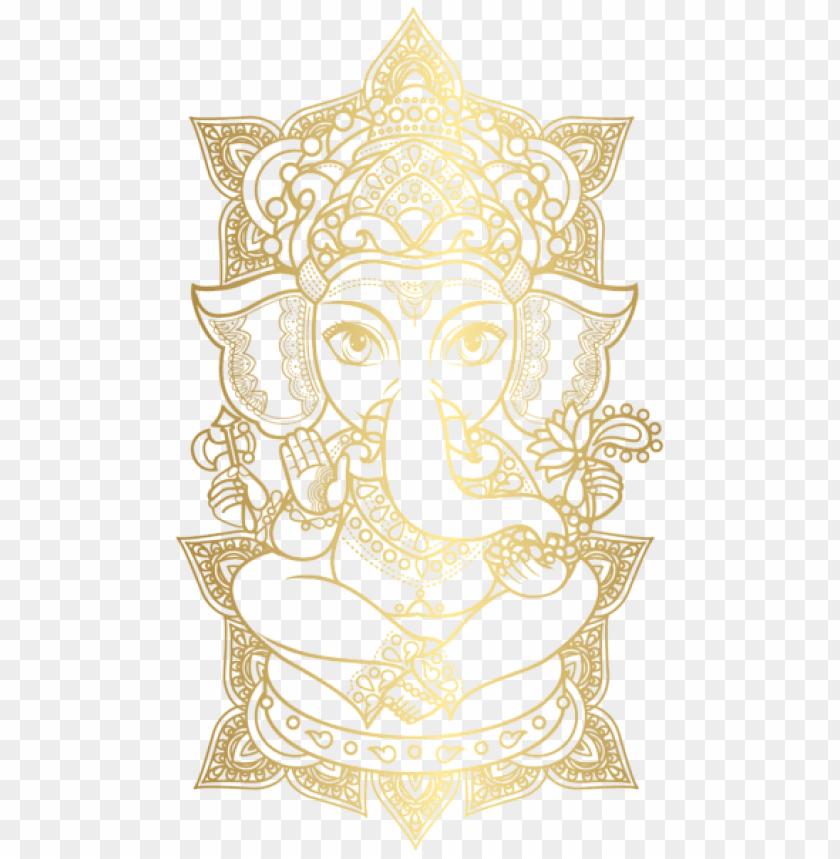 free PNG Download gold ganesha clipart png photo   PNG images transparent