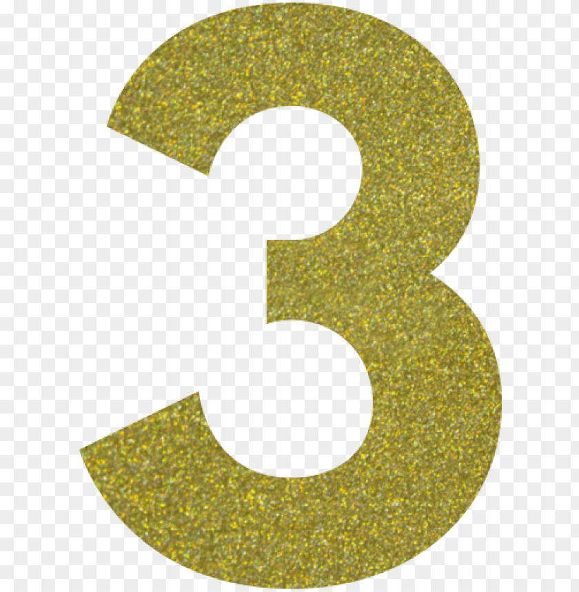 free PNG gold glitter number 3 PNG image with transparent background PNG images transparent