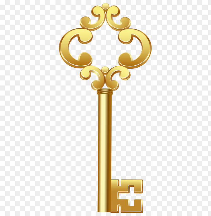 free PNG Download gold key clipart png photo   PNG images transparent