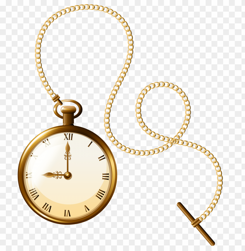free PNG Download gold pocket watch clock clipart png photo   PNG images transparent