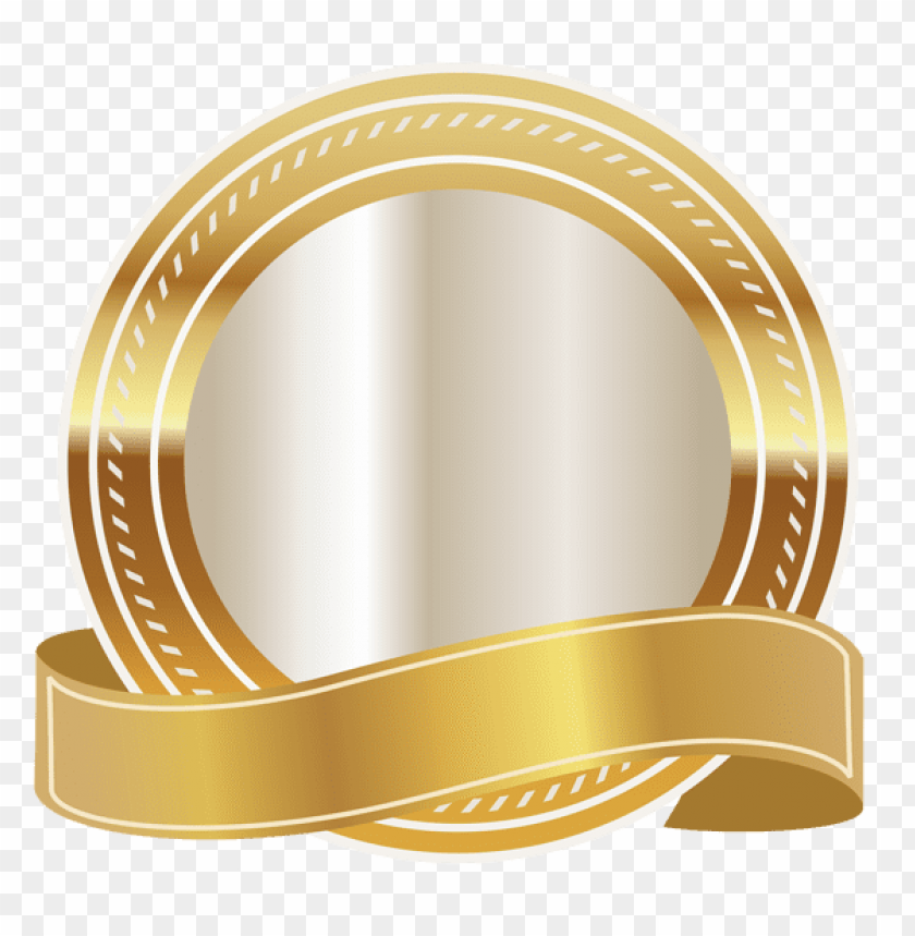 free PNG Download gold seal with gold ribbon clipart png photo   PNG images transparent