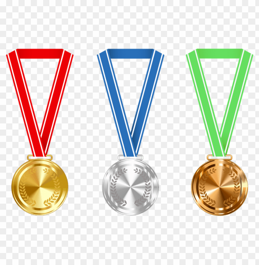 free PNG Download gold silver and bronze medals clipart png photo   PNG images transparent