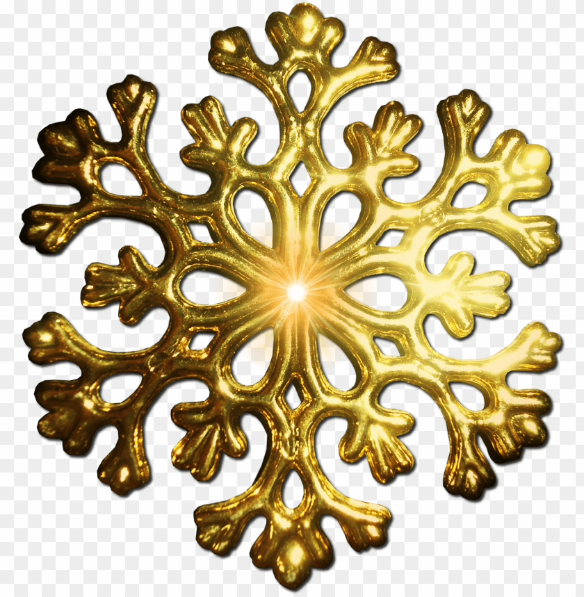 free PNG gold snowflake PNG image with transparent background PNG images transparent