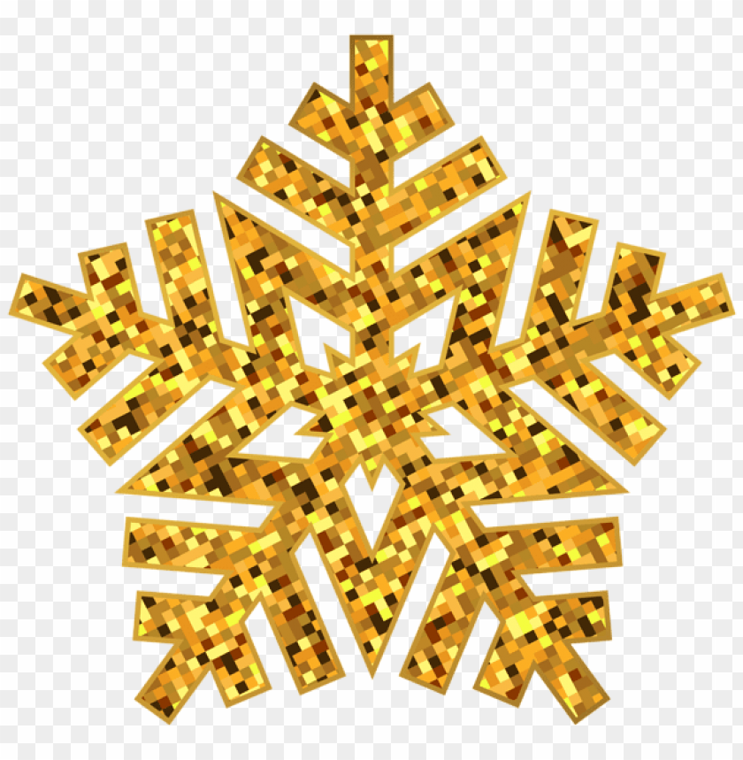 free PNG gold snowflake decorative PNG Images PNG images transparent