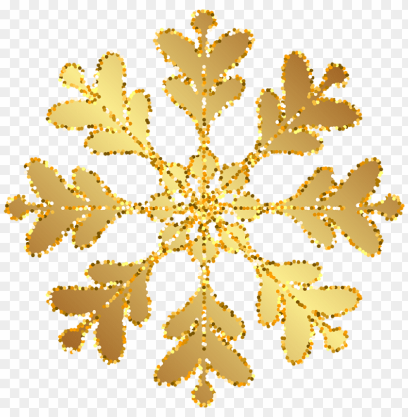 free PNG Download gold snowflake transparent clipart png photo   PNG images transparent