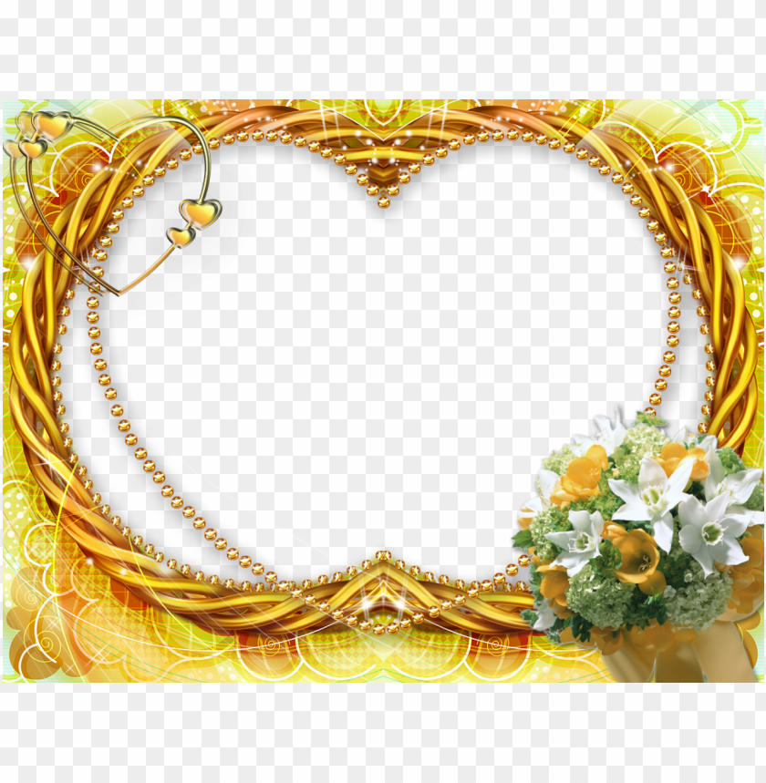 Gold Wedding Frames Png Png Image With Transparent Background Toppng
