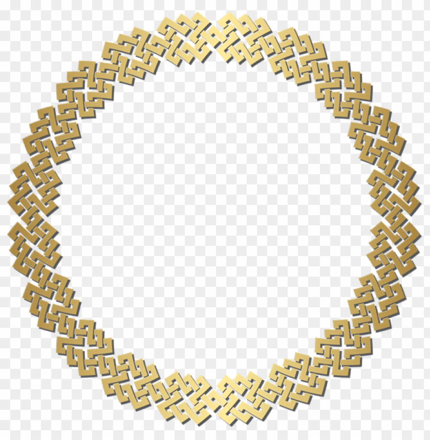 free PNG Download golden round border frame clipart png photo   PNG images transparent