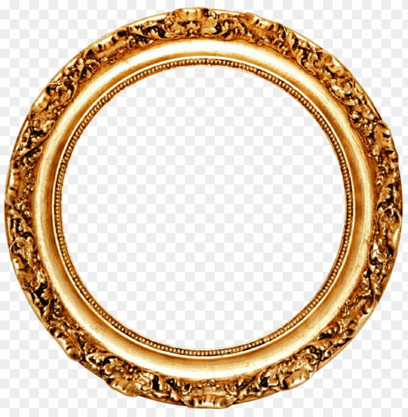 free PNG golden round frame png - Free PNG Images PNG images transparent