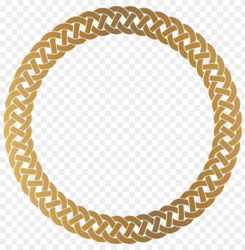 free PNG Download golden round frame border clipart png photo   PNG images transparent