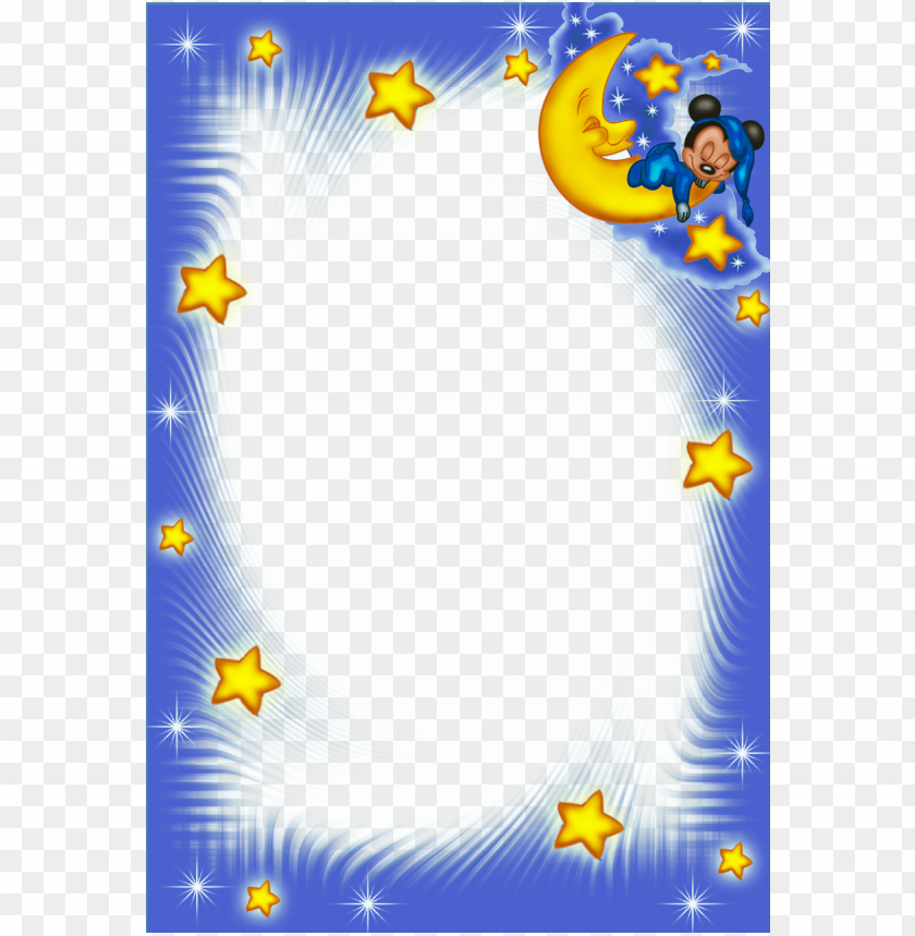 free PNG good night kids png blue frame background best stock photos PNG images transparent