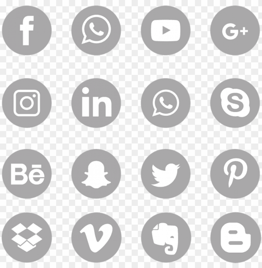 free PNG gray social media icons set logo symbol, social, media, - grey social media icons png - Free PNG Images PNG images transparent