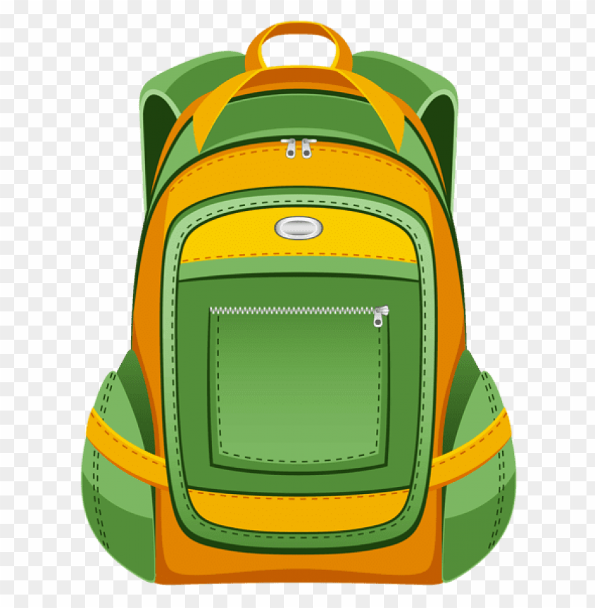 free PNG Download green and yellow backpack png vector clipart png photo   PNG images transparent