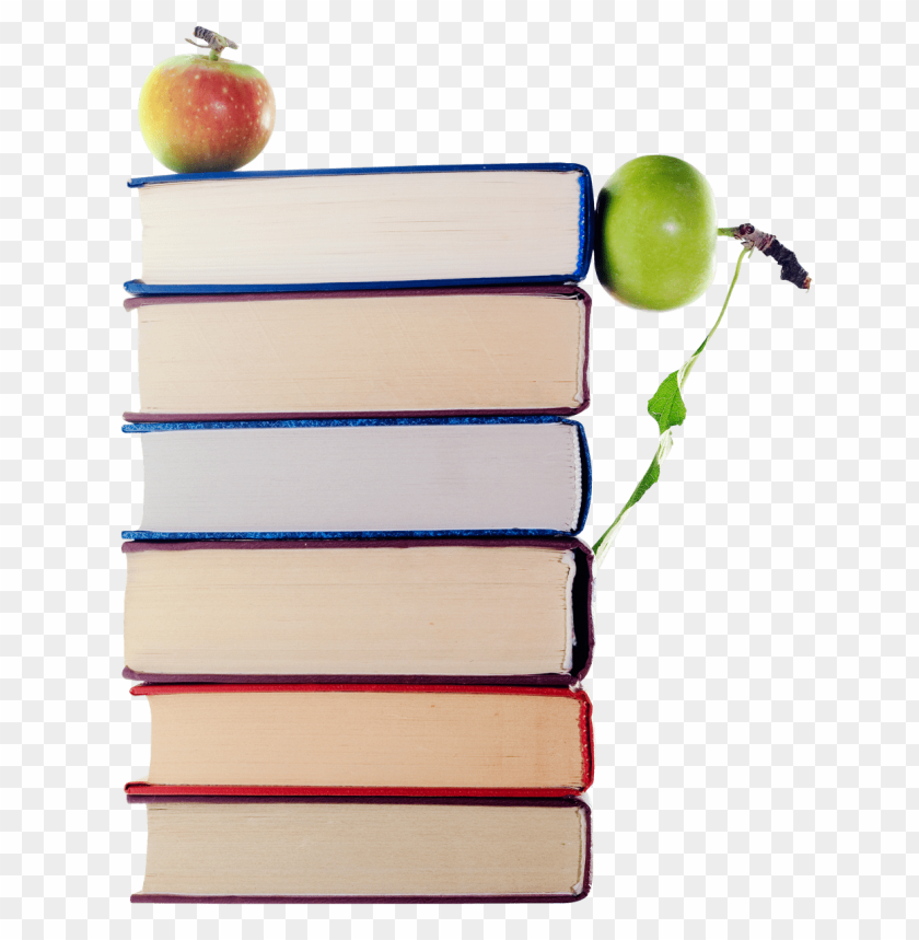 free PNG Download green apples in stack of books png images background PNG images transparent