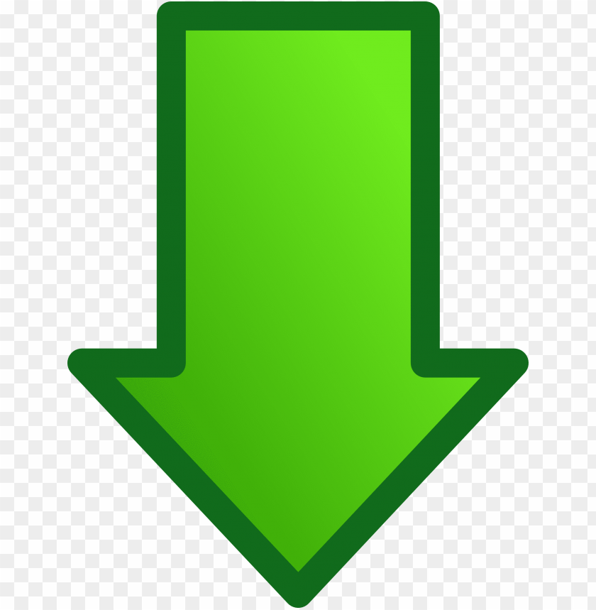 green down arrow PNG image with transparent background | TOPpng