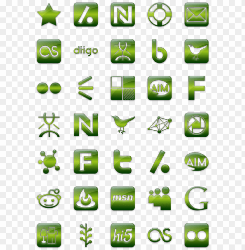 free PNG green jelly social media icon pack by webtreatsetc - social media icon green transparent png - Free PNG Images PNG images transparent