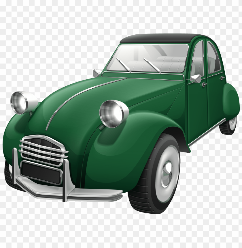 free PNG Download green retro car clipart png photo   PNG images transparent