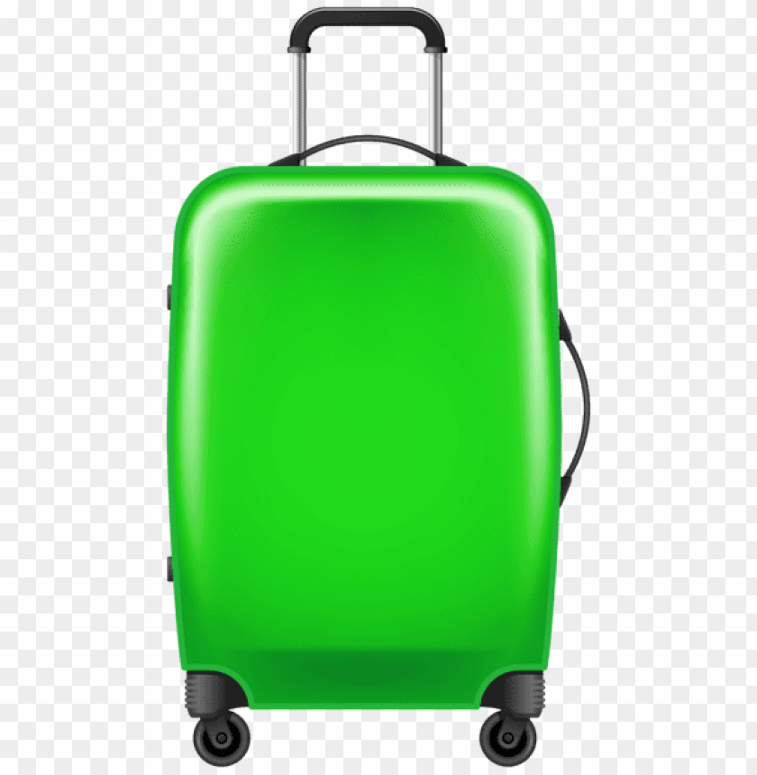 free PNG Download green trolley suitcase clipart png photo   PNG images transparent