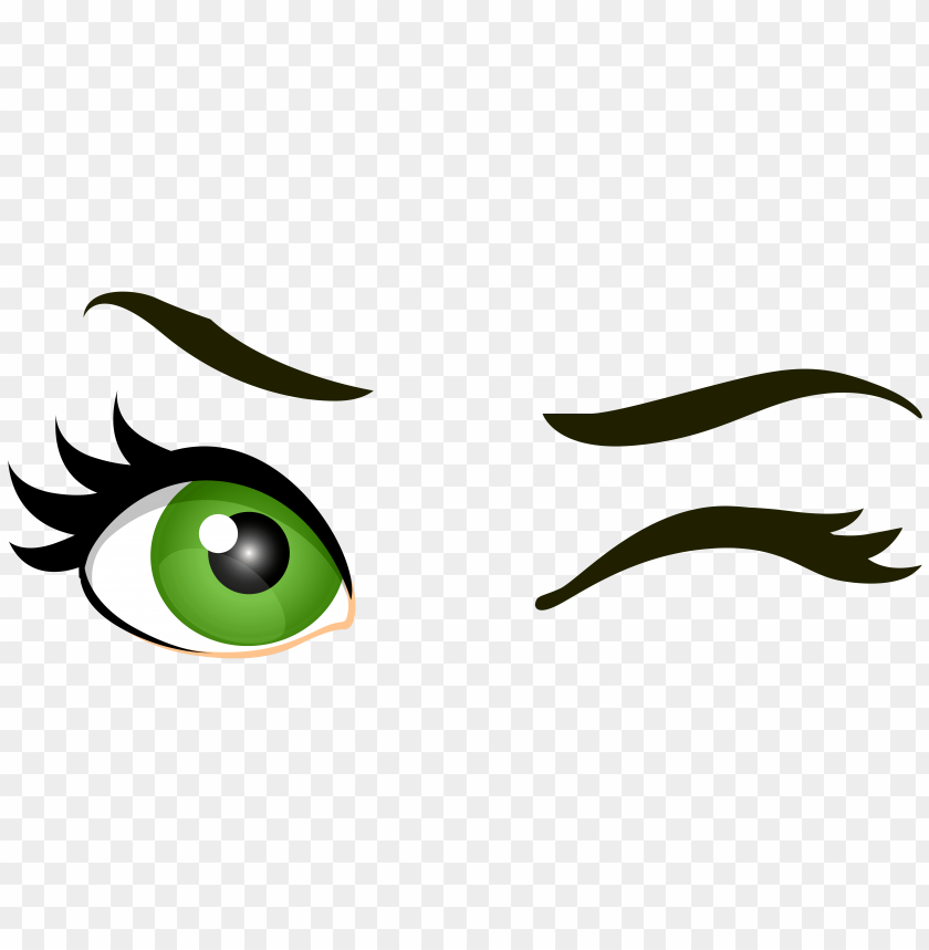 free PNG Download green winking eyes clipart png photo   PNG images transparent