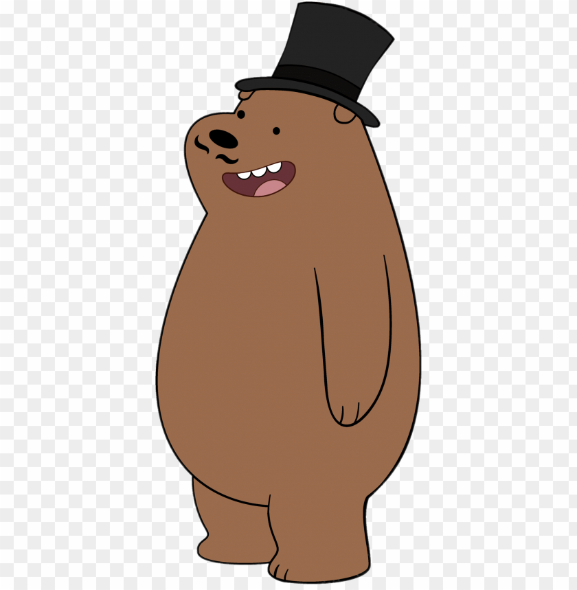 free PNG Download grizzly bear wearing high hat clipart png photo   PNG images transparent