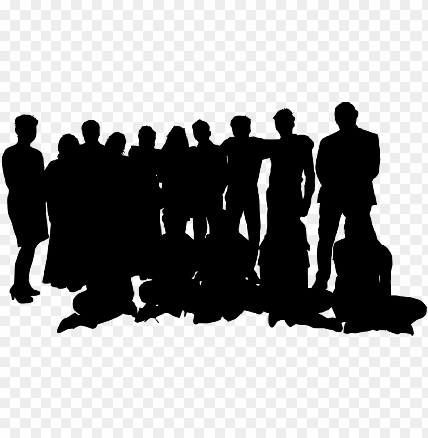 free PNG group photo posing silhouette png - Free PNG Images PNG images transparent