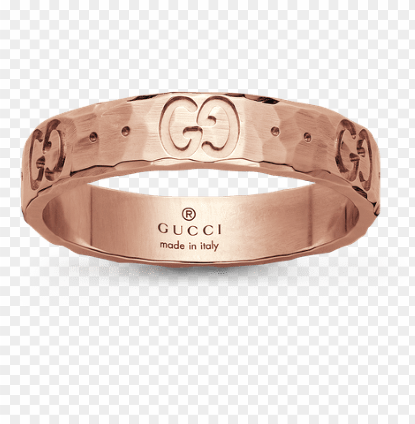 free PNG gucci icon ring - gucci icon hammered 18ct rose gold ring, gold png - Free PNG Images PNG images transparent