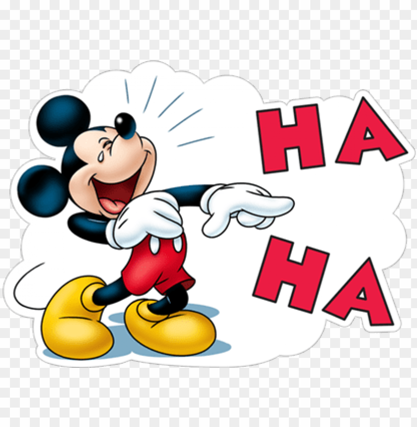 Ha Ha Haha Laugh Lol Mickey Mouse Mickey Mouse Viber Stickers