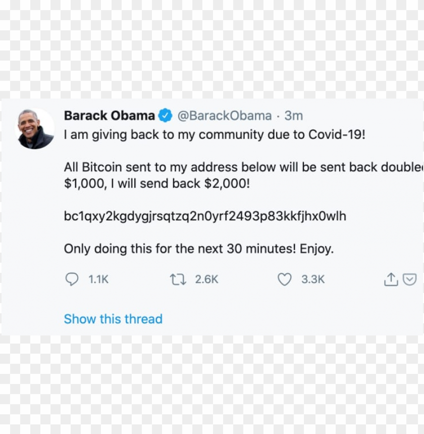 free PNG Barack Obama's Twitter account was hacked PNG image with transparent background PNG images transparent
