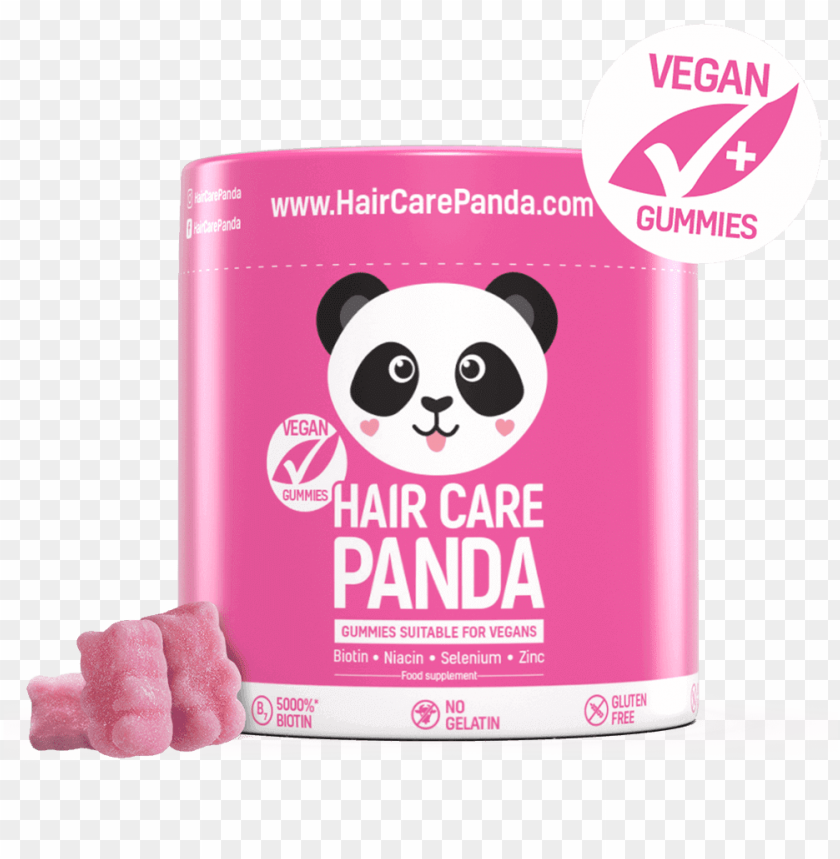 free PNG hair care panda vitamins for hair - hair care panda PNG image with transparent background PNG images transparent