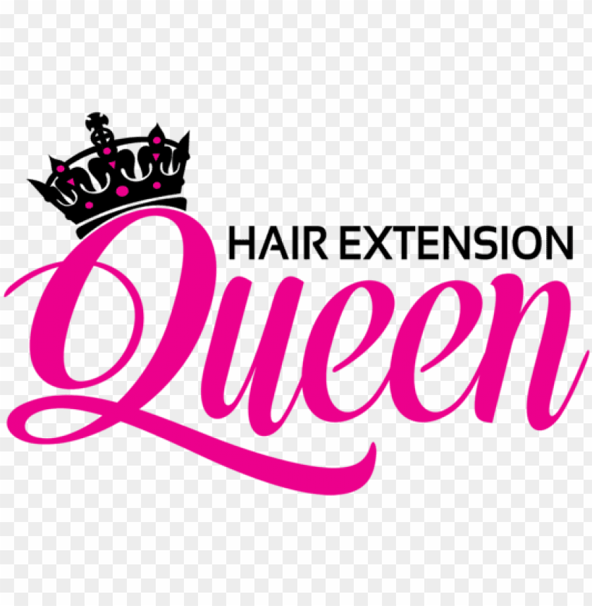 free PNG hair extension queen - queen hair extensions logo PNG image with transparent background PNG images transparent