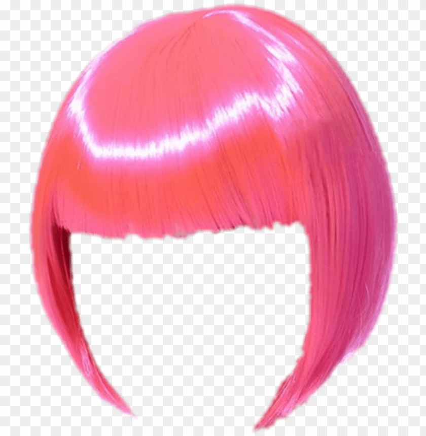 free PNG hair wig wigs haircut hairstyle hairdo pink hair bob - lace wi PNG image with transparent background PNG images transparent