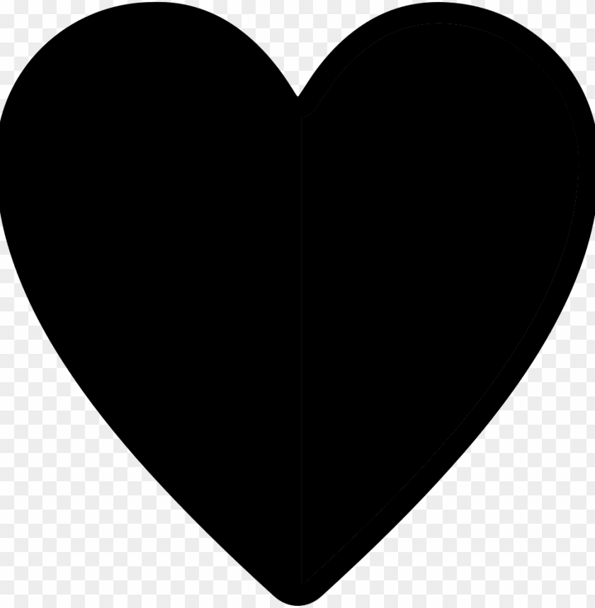 free PNG half heart - - icon heart sv PNG image with transparent background PNG images transparent