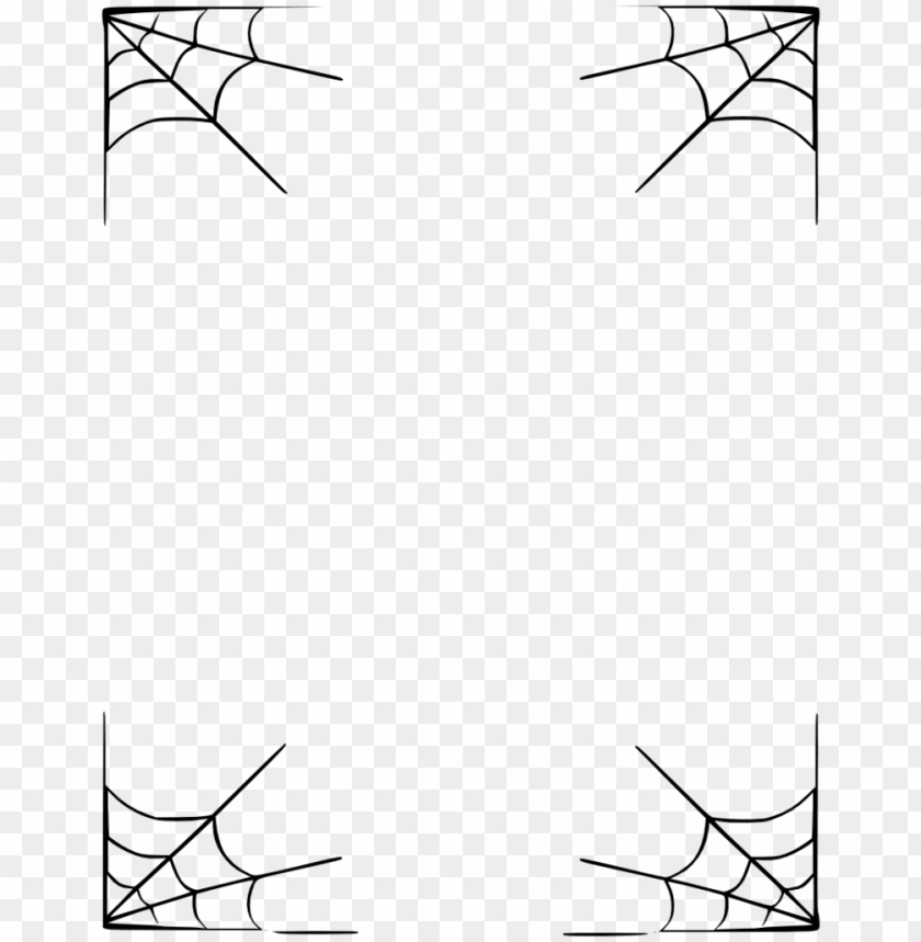 free PNG halloween border vector free png image transparent - spider web frame PNG image with transparent background PNG images transparent
