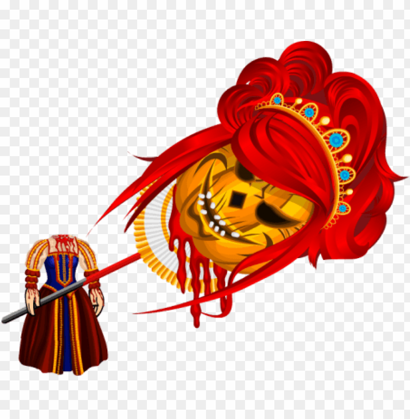 free PNG halloween headless queen set png - Free PNG Images PNG images transparent
