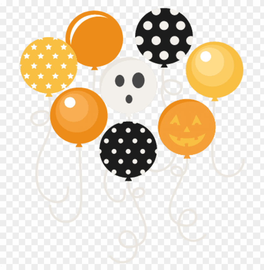 free PNG halloween party balloons svg scrapbook files svg cutting - halloween balloons with transparent background PNG image with transparent background PNG images transparent