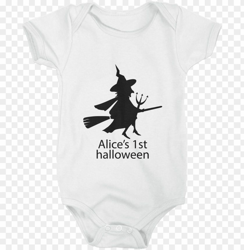 free PNG halloween witch babygrow - silhouette PNG image with transparent background PNG images transparent